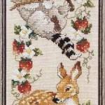 вышивка нот с оленем