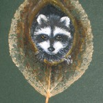 дом енота. рисунок на листе