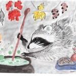 Рисунки с енотами