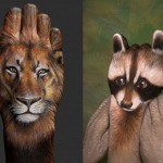 Lion-and-Raccoon-Hand-Painting-Art-by-Guido-Daniele