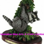 Polyresin-Raccoon-Statue-Resin-Raccoon-Figure