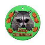 raccoon_christmas_ornament_round