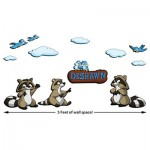 ZWalls-Custom-Raccoon-3D-Cartoon-Wall-Art-Scene-12-Pieces