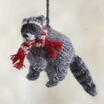 alpaca-woodland-raccoon-ornament
