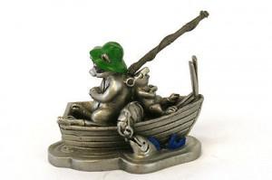 енот в лодке