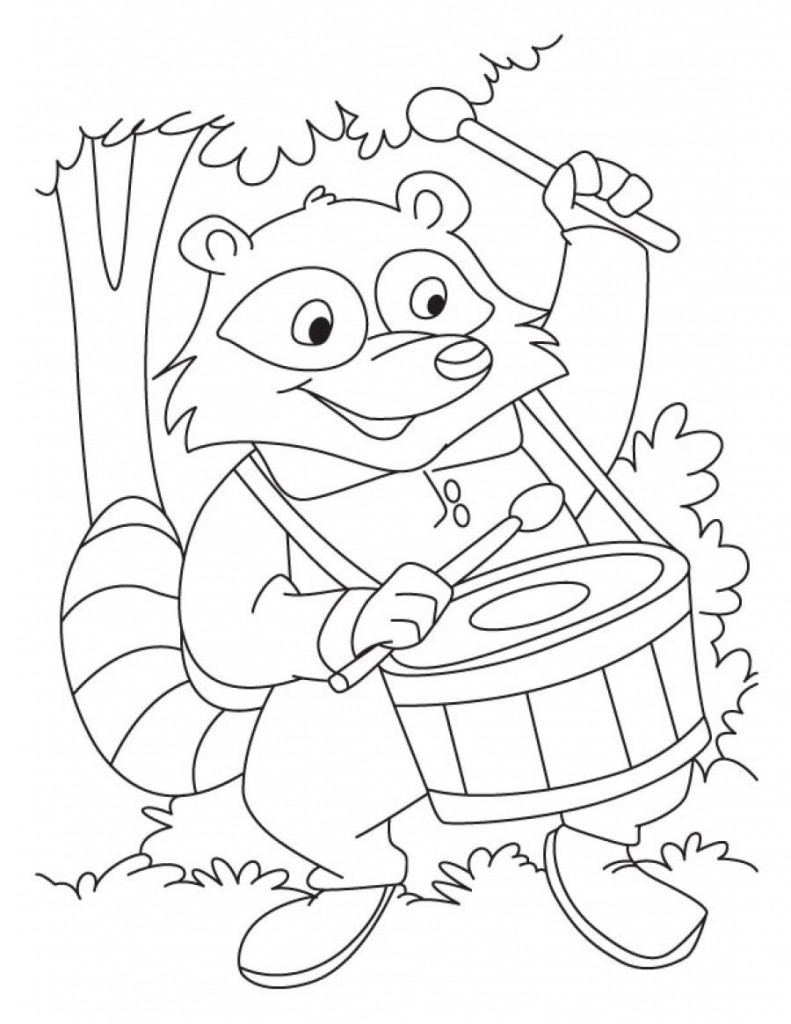 Raccoons Coloring Book from The Gables Raccoon World